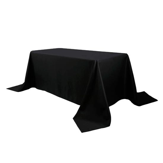 Black 8ft Table Cloth Polyester